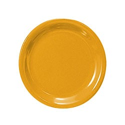 Yellow Melamine Narrow Rim Round Plate - 7-1/2