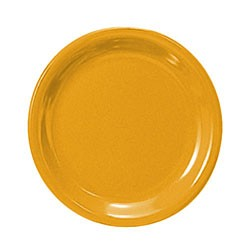 Thunder Group CR109YW Yellow Melamine Narrow Rim Round Plate 9""