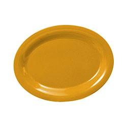 "Thunder Group CR209YW Yellow Melamine Oval Platter, 9-1/2"" x 7-1/4"""