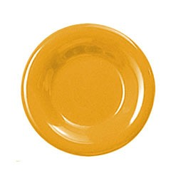 "Thunder Group CR009YW Yellow Melamine Wide Rim Round Plate 9"""