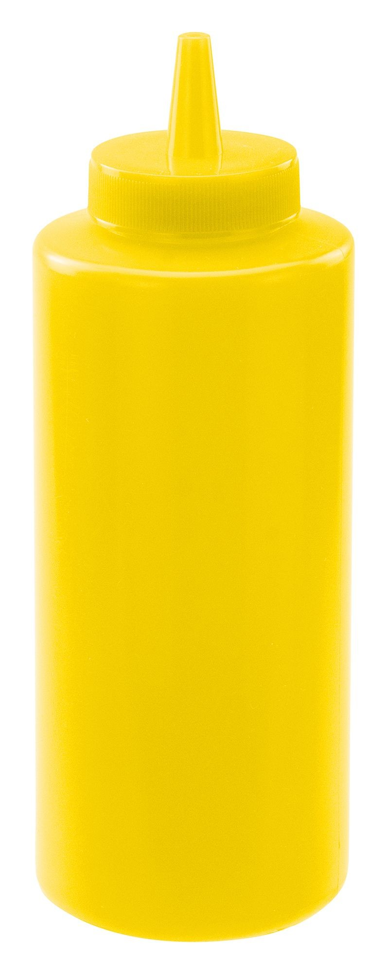 Winco PSB-12Y Yellow Plastic 12 oz. Squeeze Bottle