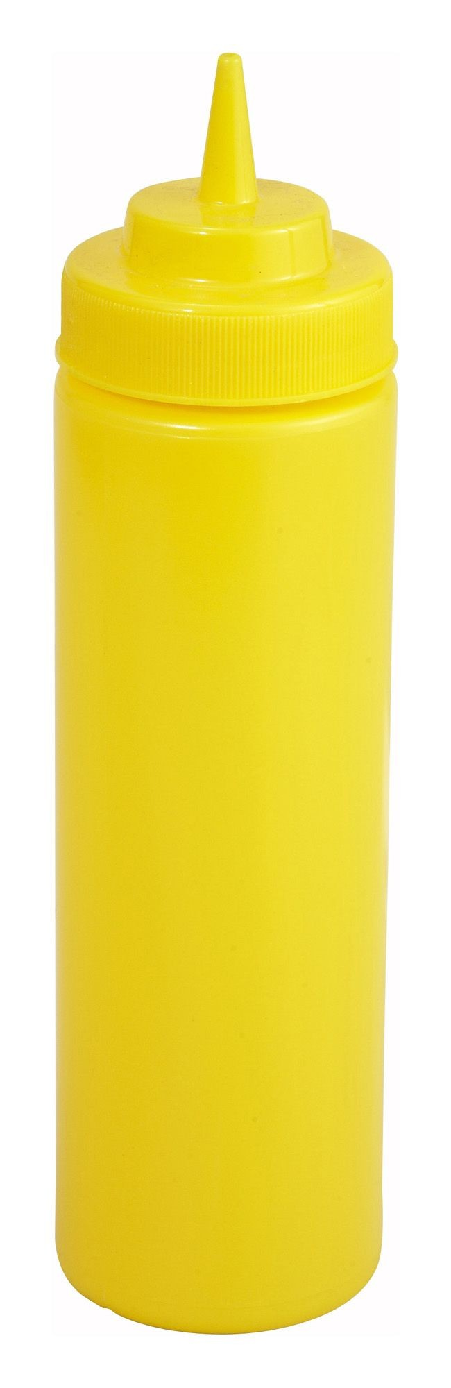 Winco PSW-16Y Yellow Plastic 16 oz. Wide-Mouth Squeeze Bottle