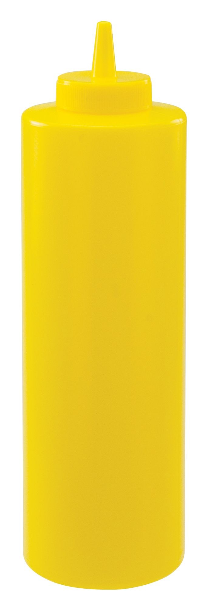 Winco PSB-24Y Yellow Plastic 24 oz. Squeeze Bottle