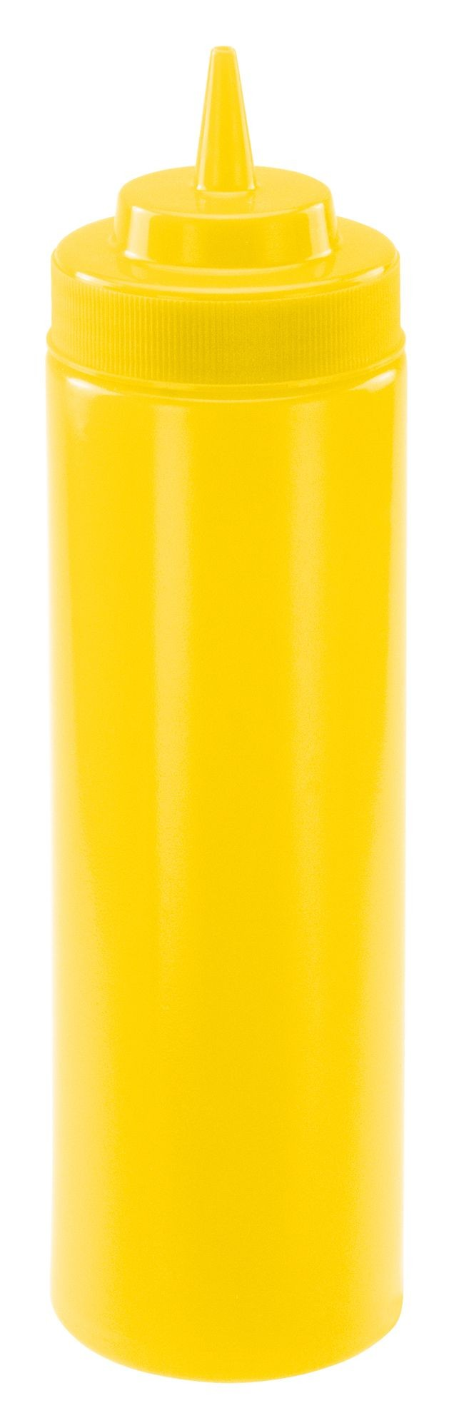 Winco PSW-24Y Yellow Plastic 24 oz. Wide-Mouth Squeeze Bottle