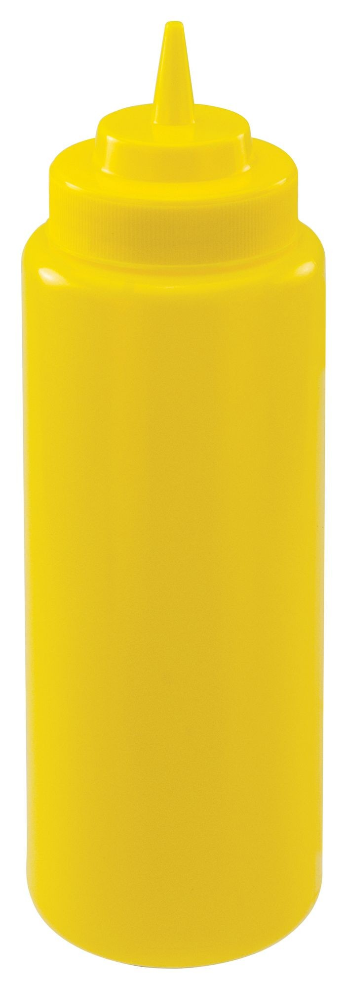 Winco PSW-32Y Yellow Plastic 32 oz. Wide-Mouth Squeeze Bottle