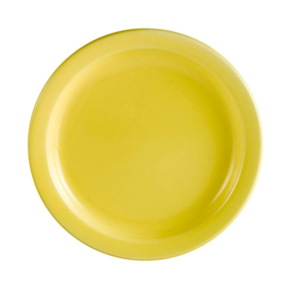 Yellow Plate, Narrow Rim, 10 1/2