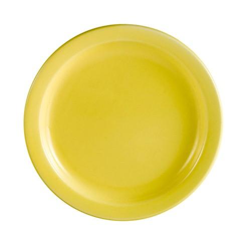 """CAC China L-16NR-Y Las Vegas Narrow Rim Yellow Plate 10 1/2"""""""