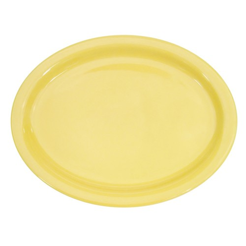 Yellow Platter, Narrow Rim, 13 1/4