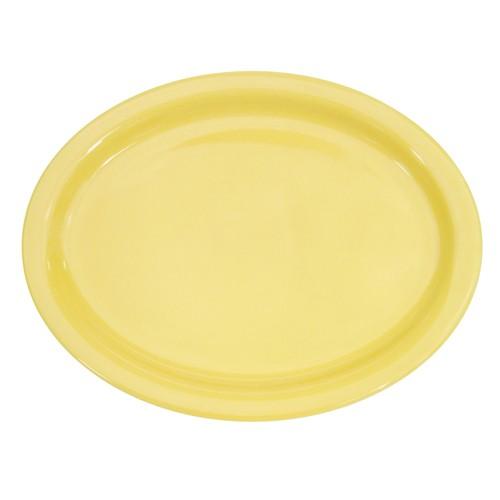 """CAC China L-14NR-Y Las Vegas Narrow Rim Yellow Platter, 13 1/4"""""""