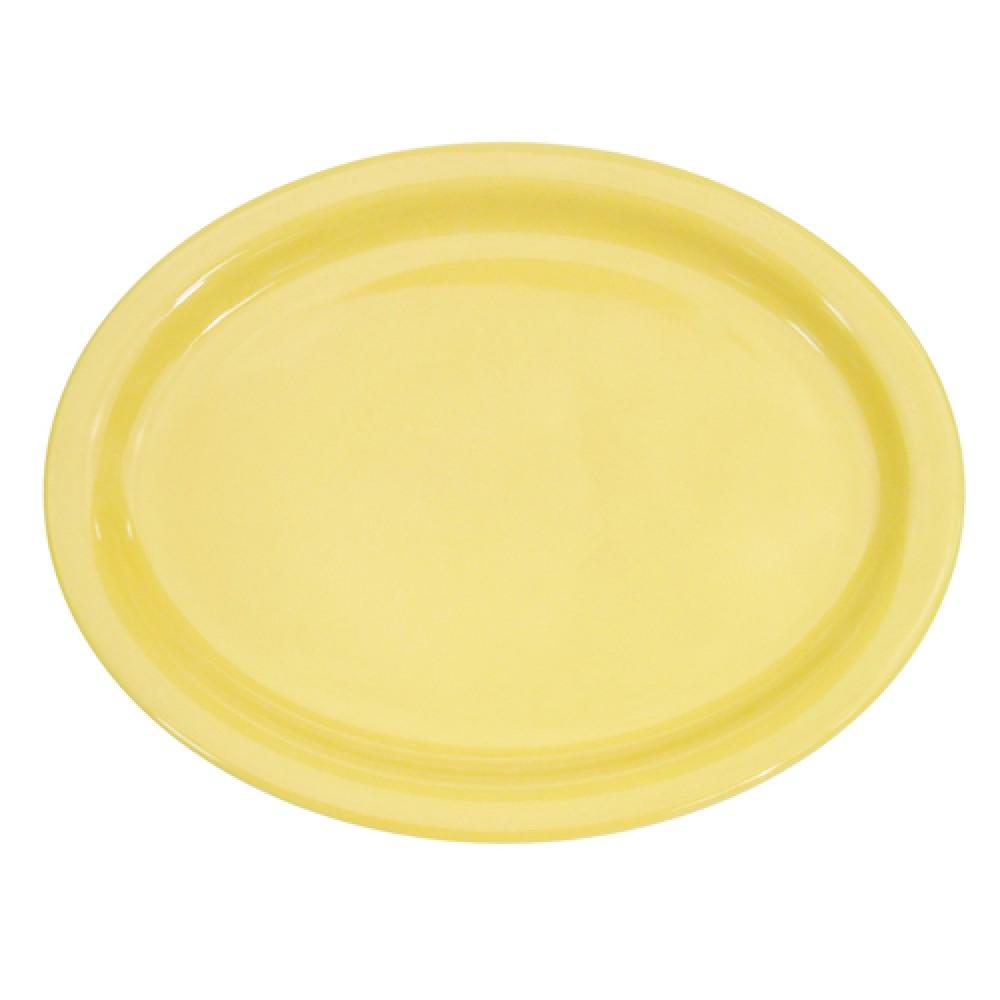"""CAC China L-12NR-Y Las Vegas Narrow Rim Yellow Platter, 9 3/4"""""""