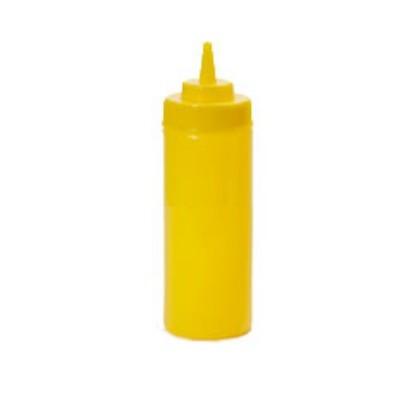G.E.T. Enterprises SB-16-Y Yellow Plastic 16 oz. Wide Mouth Squeeze Dispenser
