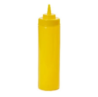 G.E.T. Enterprises SB-24-Y Yellow Plastic 24 oz. Wide Mouth Squeeze Dispenser