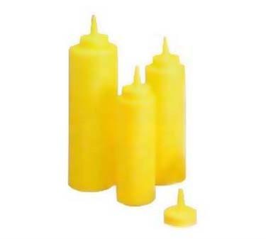 TableCraft 108M Yellow 8 oz. Mustard Cone Tip Squeeze Dispenser