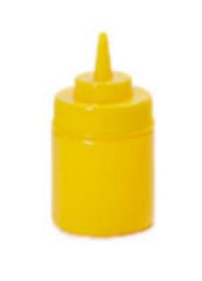 G.E.T. Enterprises SB-8-Y Yellow Plastic 8 oz. Wide Mouth Squeeze Dispenser