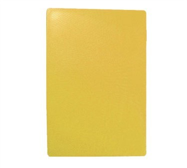 "TableCraft CB1218YA Yellow Polyethylene Cutting Board 12"" x 18"" x 1/2"""
