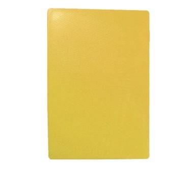"""TableCraft CB1520YA Yellow Polyethylene Cutting Board 15"""" x 20"""" x 1/2"""""""