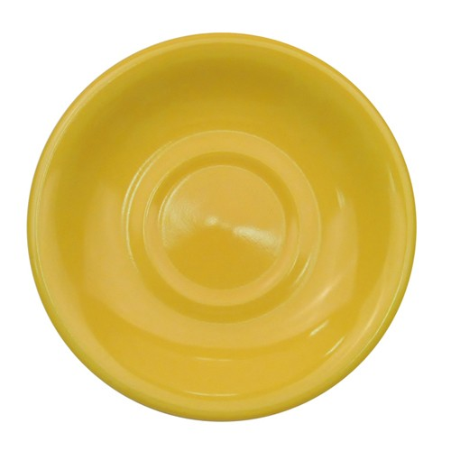 CAC China LV-2-Y Las Vegas Rolled Edge Yellow Saucer, 6""