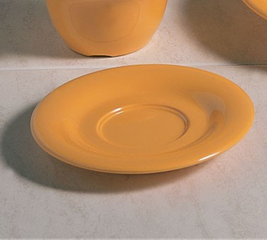 "Thunder Group CR9108YW Yellow Melamine 5-1/2"" Saucer for CR308/AD928/AD938"