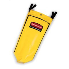 Zippered Vinyl Cleaning Cart Bag, 21 gal, 17 1/4w x 10 1/2d x 30 1/2h, Yellow