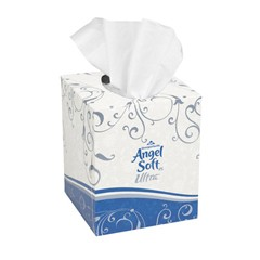 ps Ultra Premium Facial Tissue, Cube Box, White, 2-Ply, 96/Box