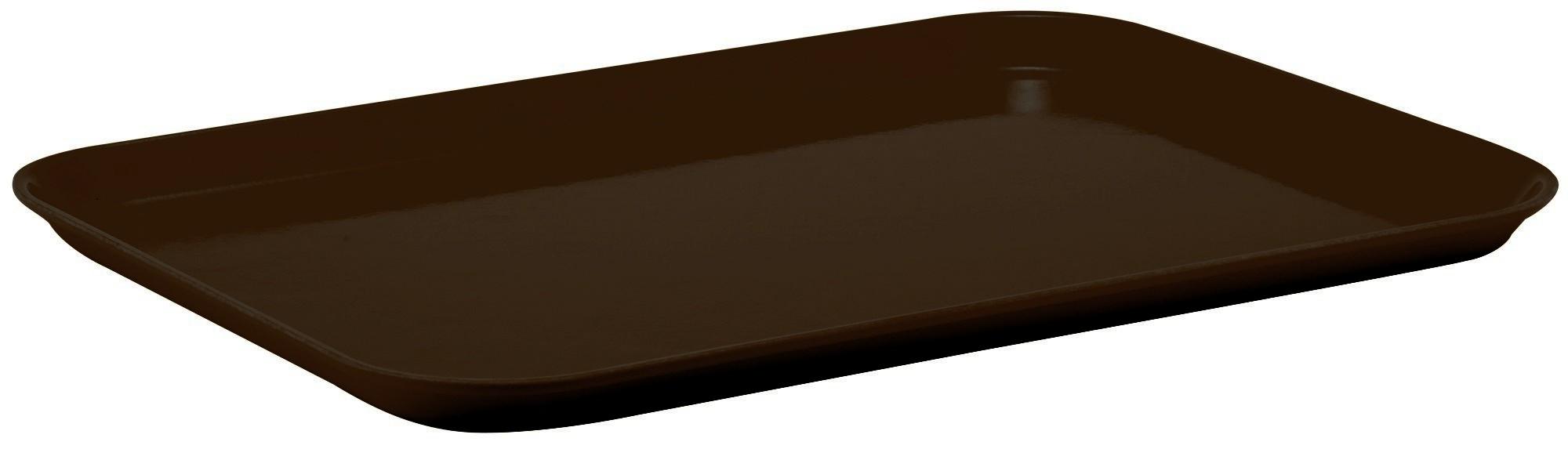 Winco FGT-1418B Fiberglass Rectangular Tray, Brown, 14quot; x 18quot;